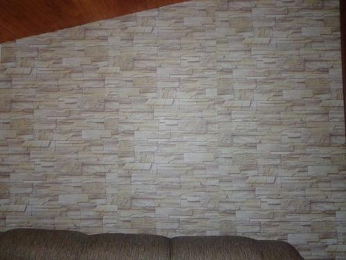 Film o papel adhesivo para empapelar paredes simil piedra for Papel para empapelar precio