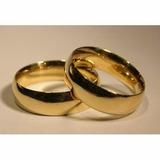 Alianzas-anillos De Compromiso -bodas-acero --enchapado  Oro