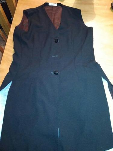 Chaleco De Vestir Entallado Para Dama Negro Talle 44 En