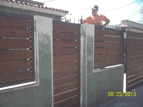 Portones hierro y madera 5000 sl4gu precio d uruguay - Portones de hierro fotos ...