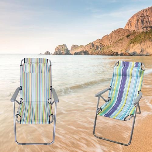 Oferta 2 sillas de playa super reforzadas con almohada for Sillas montevideo