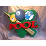 Cartel  Pool  Relieve 3d Exclusivo !!!!