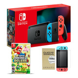 Nintendo Switch + Super Mario Bros U Del + Vidrio Macrotec
