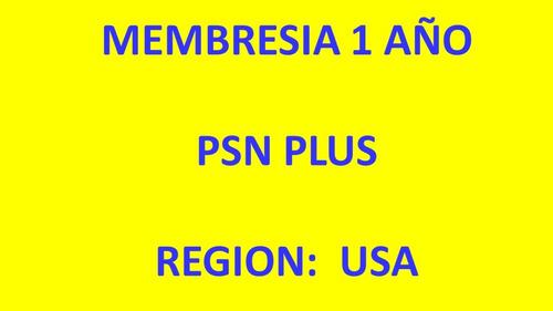 Psn Plus 12 Meses - Region Usa 100% Calif. Positivas