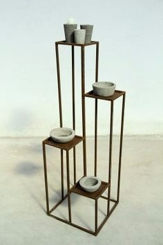 Porta maceta macetero plantas dise o hierro soporte pata for Diseno de muebles de hierro