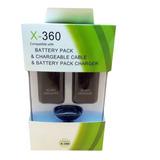 2 Baterias Y Cable De Carga Xbox 360  Kit Carga Y Juega