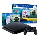 Playstation 4 Ps4 1tb + 3 Juegos Físicos Hits 4 + Regalo Amv