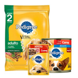 Pedigree Adulto Vegetales 21 Kg + Snacks + Pate - Laika
