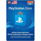 Tarjeta Playstation Psn Gift Card 50 Usd Región Usa Ps3 Ps4
