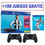 Play 4 Slim 1 Tera + Fifa 19 Con 2 Controles . Nuevos