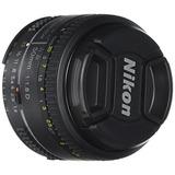 Lente Nikon Af Fx Nikkor 50mm F/1.8d Lens With Auto Focus