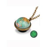 Collar Galaxia, Planetas, Luna, Espacio, Mundo.