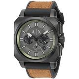 Reloj Armani Exchange Mens Ax1652 Brown  Leather