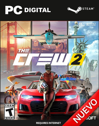 The Crew 2 Pc + Online Steam Original