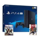 Playstation 4 Pro Ps4 + Fortnite + Apex + 80 Juegos  Laaca