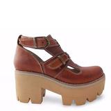Zapato Bota Calado Dama En Cuero Marcel Calzados (cod.15603)