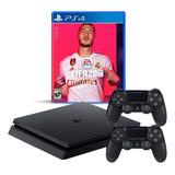 Playstation 4 Slim 1tb + Fifa 20 + 2 Joy, Macrotec
