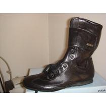Zapatos Botas De Cuero Natural De Italia