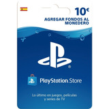 Tarjeta Playstation Network 10 Euros Es Psn Ps4 | Mvd Store