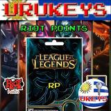 Oferta - League Of Legends 1580 Riot Points Lol Rp - Urukeys