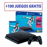 Playstation 4 1 Tera + Fifa 19 Fisico + De 100 Free Games