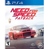 Need For Speed Payback Juego Ps4 Original Nfs + Español