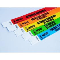 Pulsera Identificacion Papel Seguridad Personalizadas Fiesta