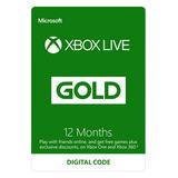 Xbox Live Gold 1 Año 12 Meses Membresia Envio Rapido!!