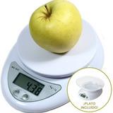 Balanza Electronica Cocina Precision 1gr 5kg + Plato Y Pilas