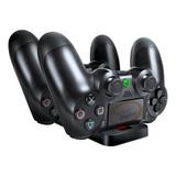 Cargador Doble Joystick Control Playstation 4 Base Carga Ps4