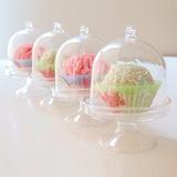 Mini  Cupula Acrilico Muffins Souvenirs Cotillon
