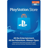 Tarjeta Playstation Network 60 Psn Usa Ps4 Ps3 | Mvd Store
