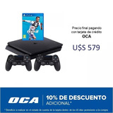 Playstation 4 Ps4 Slim Nueva De 1 Tb -fifa 19 - 2 Controles
