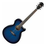 Guitarra Electroacustica Ibanez Aeg8e Tbs Azul
