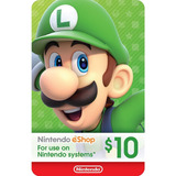 Tarjeta Digital Nintendo  Eshop 10 Usd- Mercado Uy