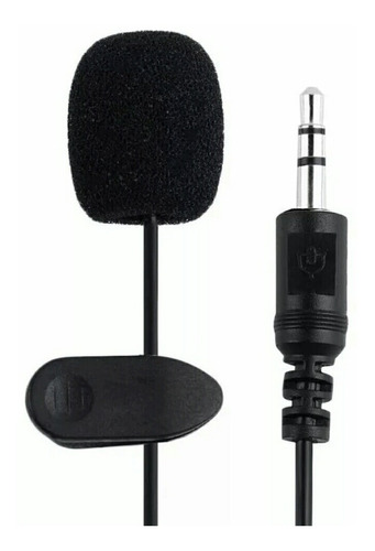 Microfono Para Celular Notebook Computadora Pc C/ Clip 2m ®