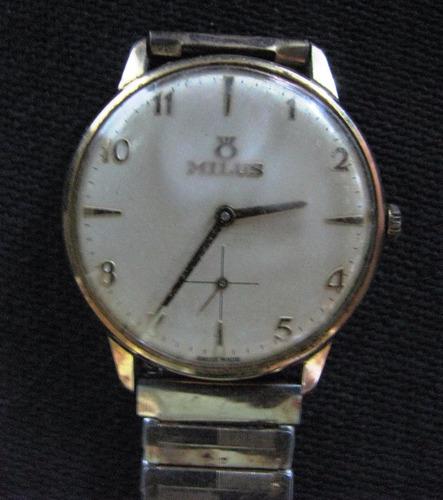 f3ba0e1c0bff Reloj Milus De Hombre Carga Manual Funcionando!