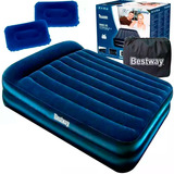 Colchón Sommier Inflable Bestway 2p Eléctrico Camping El Rey