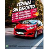 Alquiler De Auto Sin Deposito / Promos Verano 4 X 3 Y Mas !
