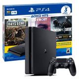 Consola Ps4 Play 4 1tb Bundle 3 Juegos Fisicos Futuro21