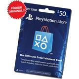 Tarjeta Playstation 50 Dólares Gift Psn / Código Original