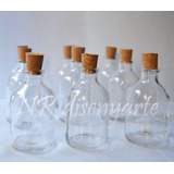 Frasco Vidrio 60ml 7cm C/ Corcho Artesanías Souvenirs Aceite