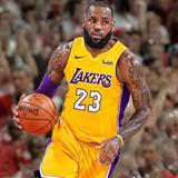 Camiseta Black Los Angeles Lakers. Lebron James. Original