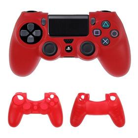 Funda Protector De Silicona Mando Control  Joystick Ps4 Rojo