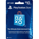 Playstation Network 10 Usd Psn Card Región Usa Ps4 / Ps3