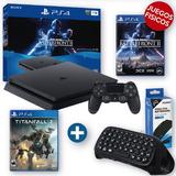 Play 4 Nuevo 1tb + Battlefront 2 + Titanfall 2 + Teclado