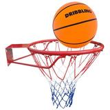 Aro De Basketball + Pelota + Red Profesional - Juego Basquet