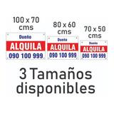 Cartel Se Alquila / Se Vende / En Lona 80x60 Cms Con Ojales