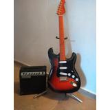 Guitarra Eléctrica Sakura Stratocaster Con Amplificador Leer
