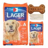 Comida Perro Adulto Lager Premium 22 + 3 Kg / Mundo Mascota
